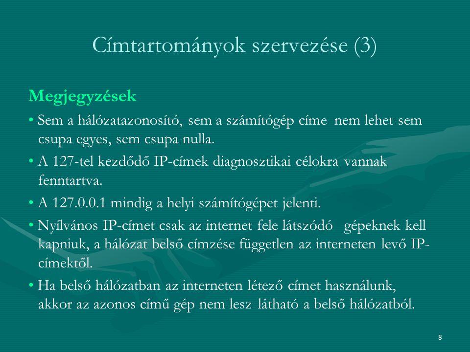 Címtartományok szervezése (3)