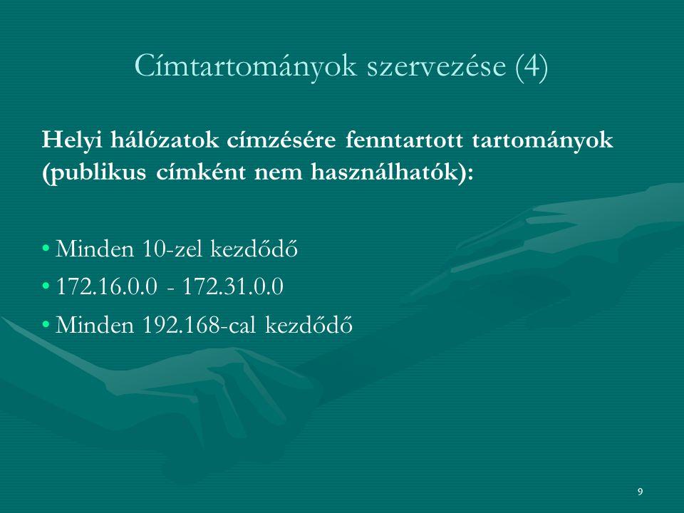 Címtartományok szervezése (4)
