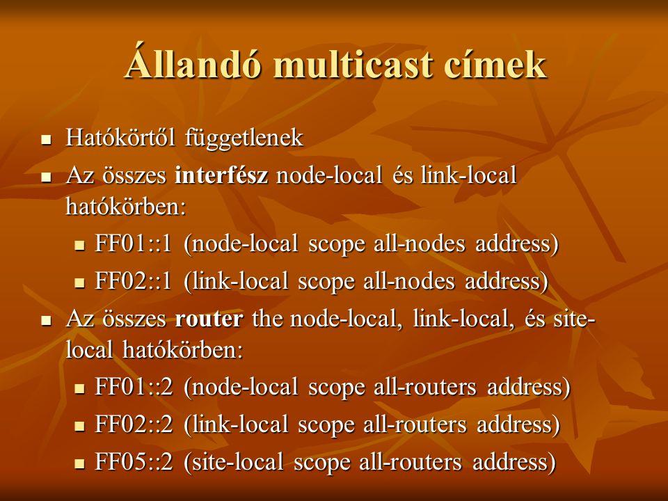 Állandó multicast címek