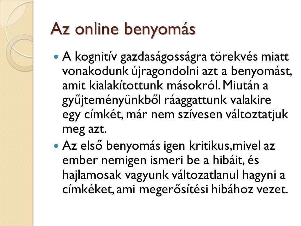 Az online benyomás