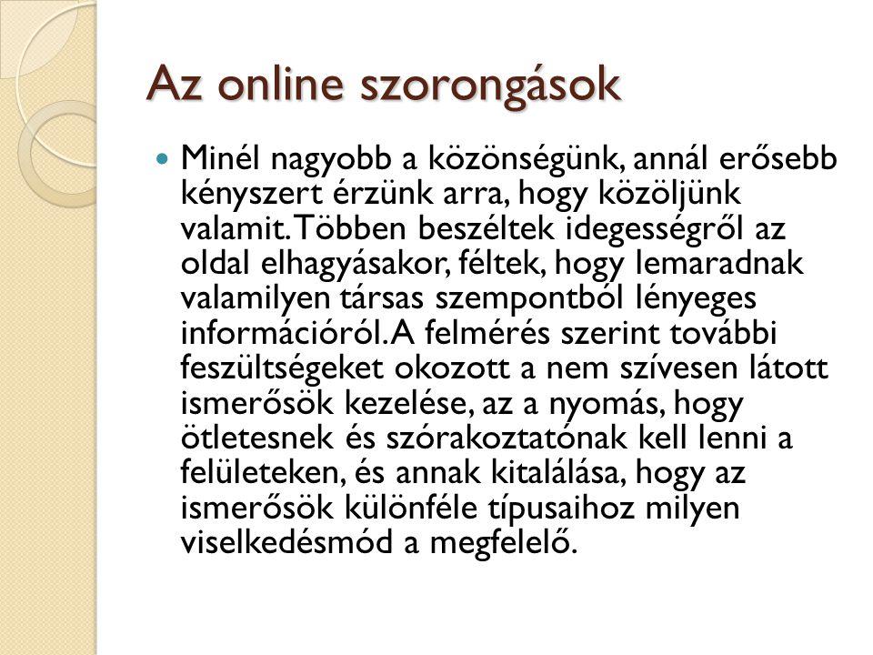 Az online szorongások