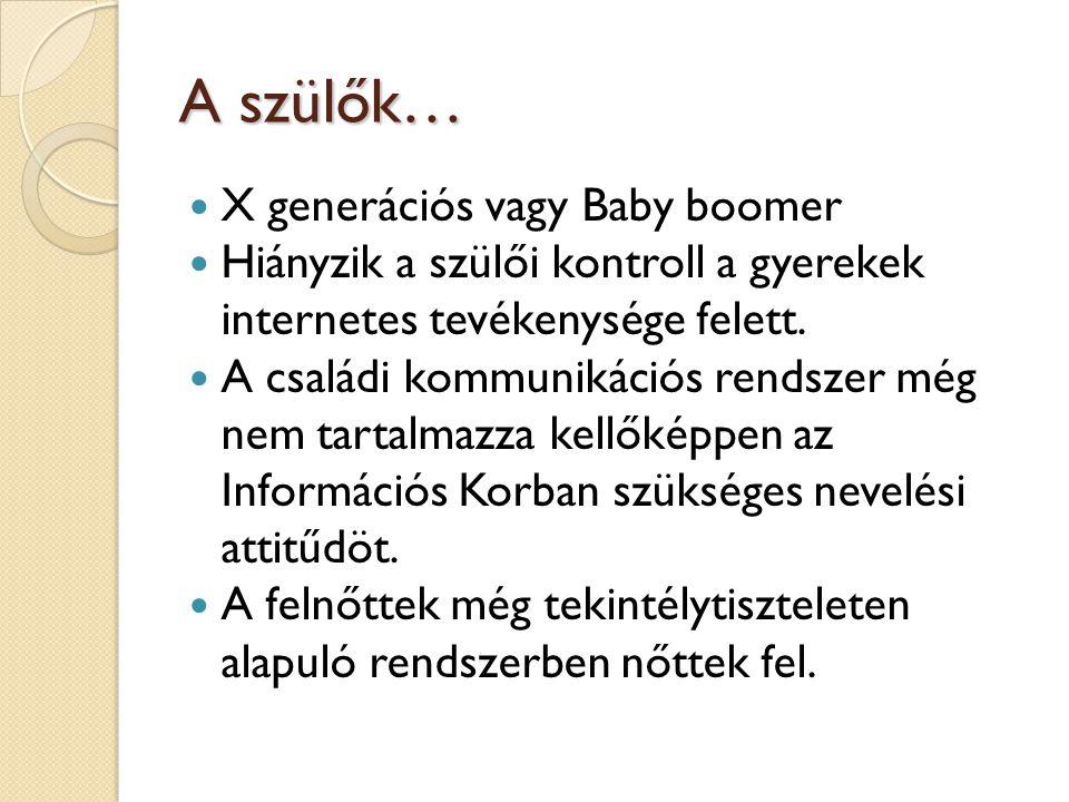 A szülők… X generációs vagy Baby boomer