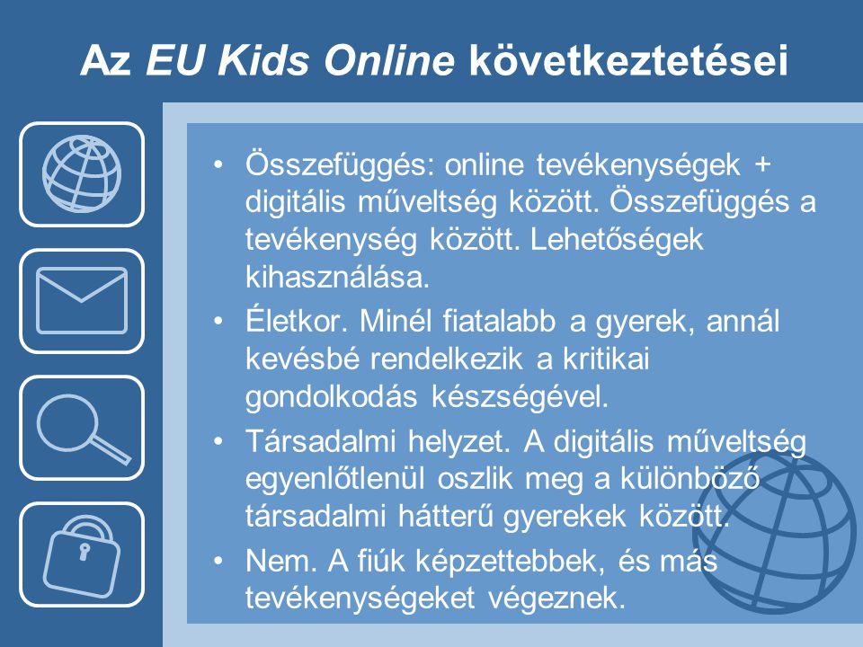 Az EU Kids Online következtetései