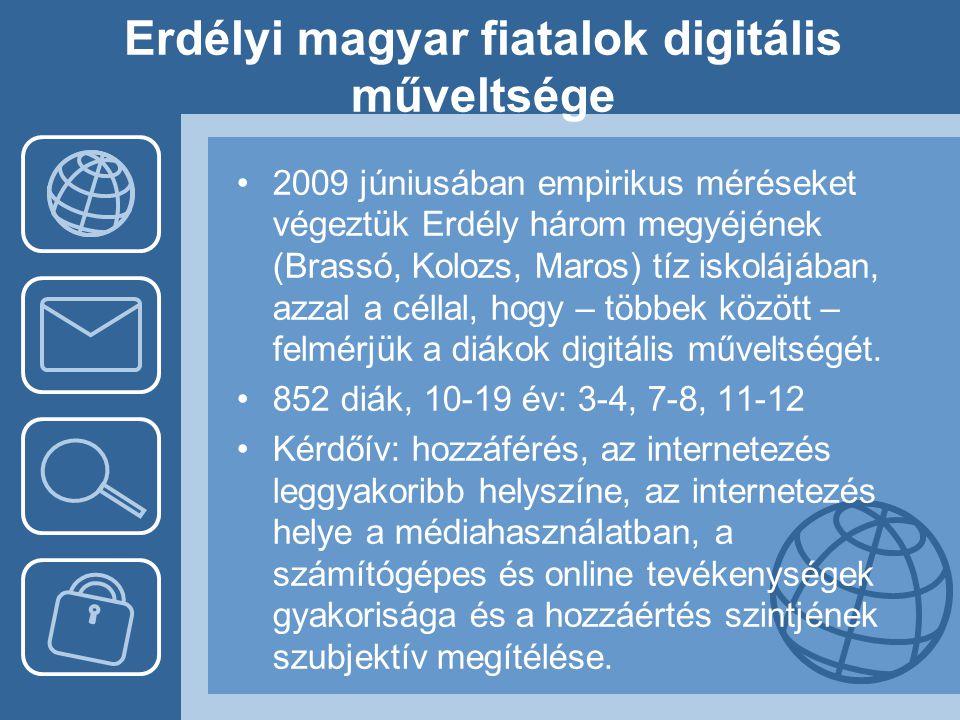 Erdélyi magyar fiatalok digitális műveltsége