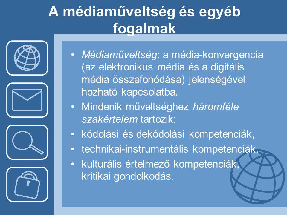 A médiaműveltség és egyéb fogalmak