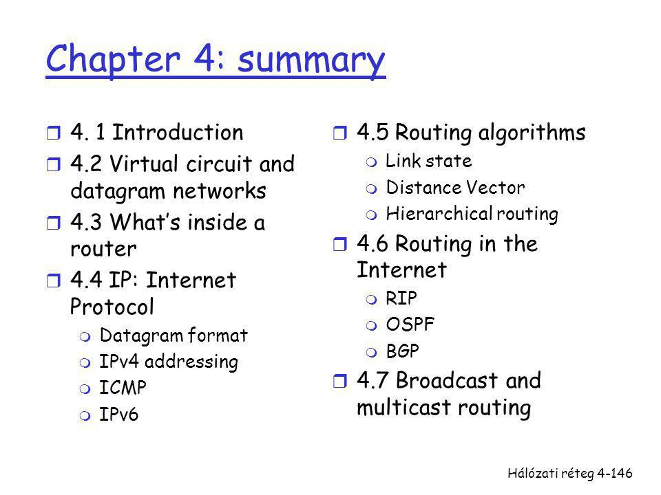 Chapter 4: summary 4. 1 Introduction