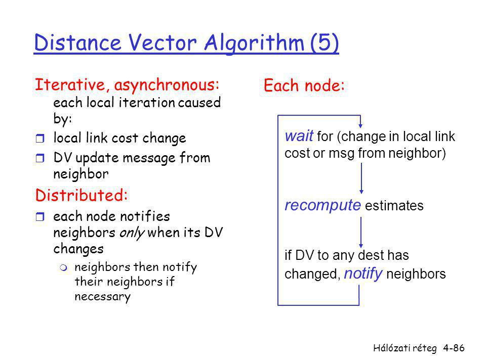 Distance Vector Algorithm (5)