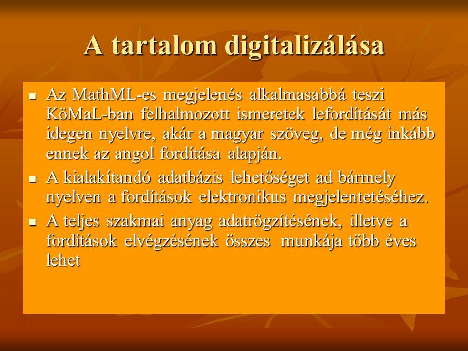 A tartalom digitalizálása