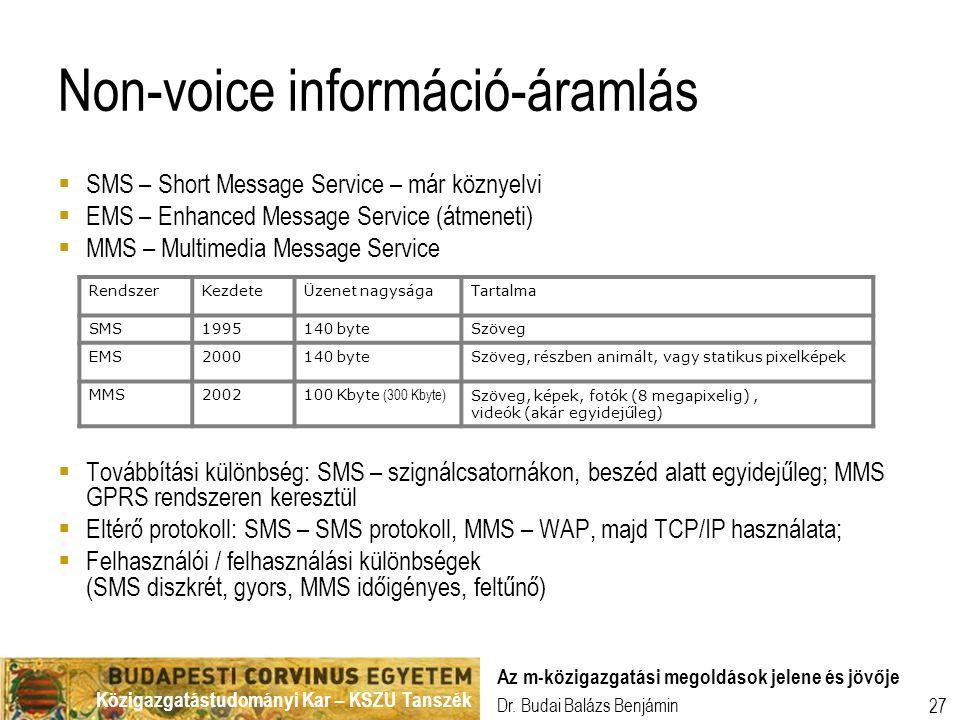 Non-voice információ-áramlás