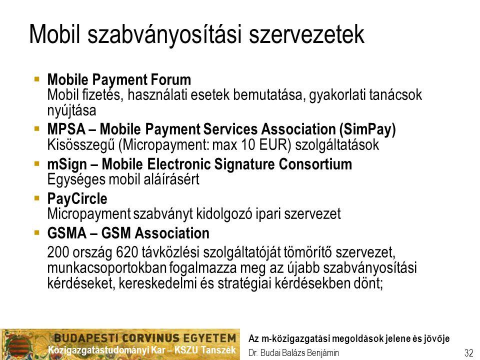 Mobil szabványosítási szervezetek