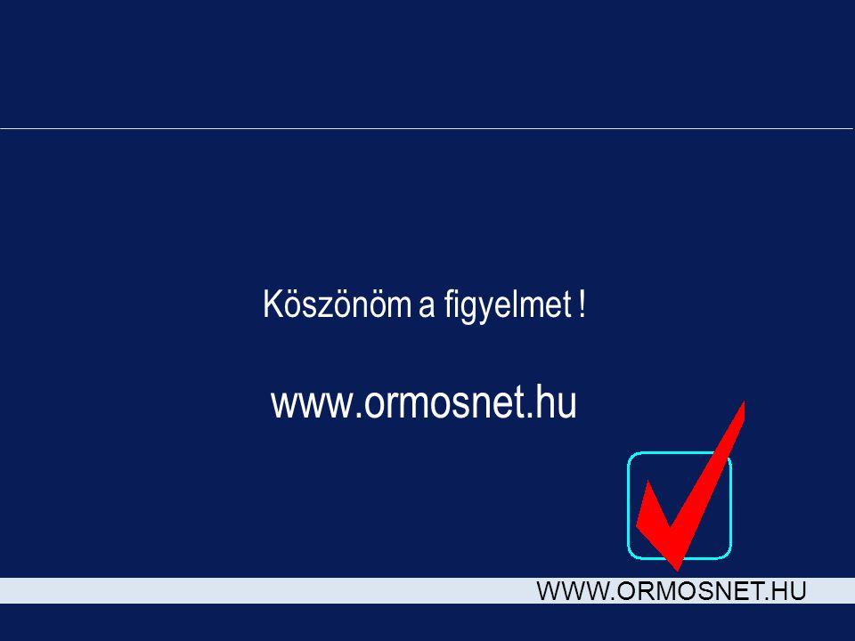 Köszönöm a figyelmet ! www.ormosnet.hu