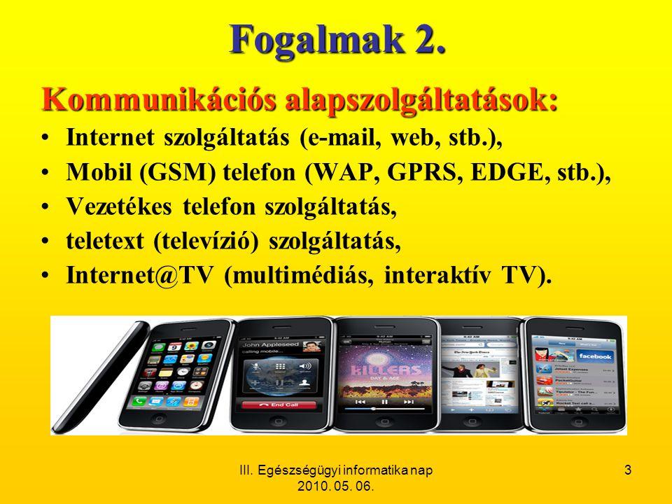 III. Egészségügyi informatika nap 2010. 05. 06.