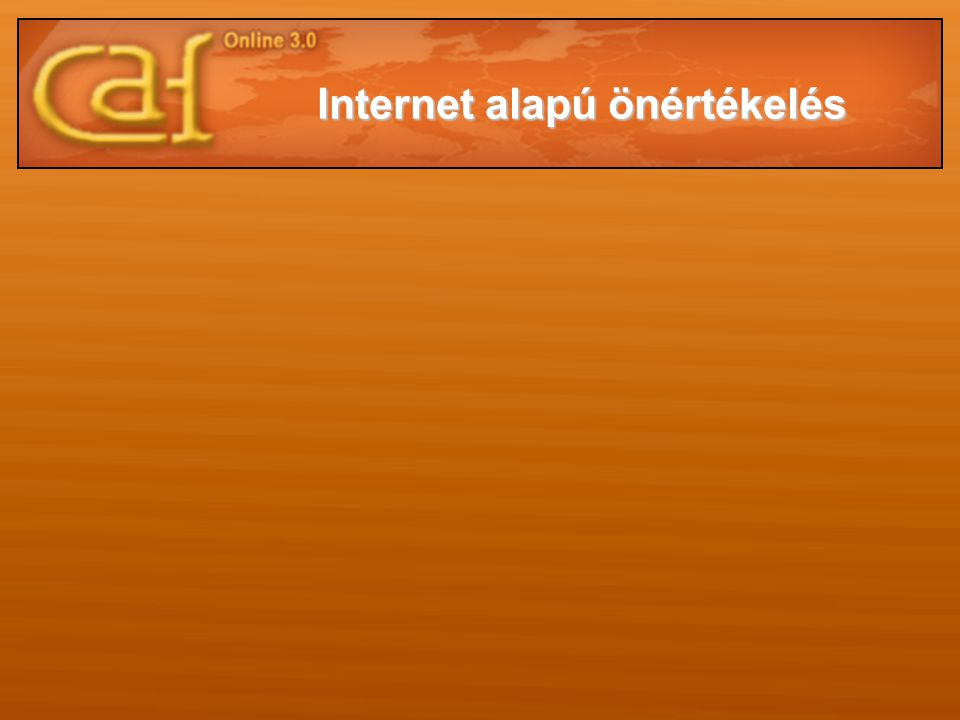 Internet alapú önértékelés