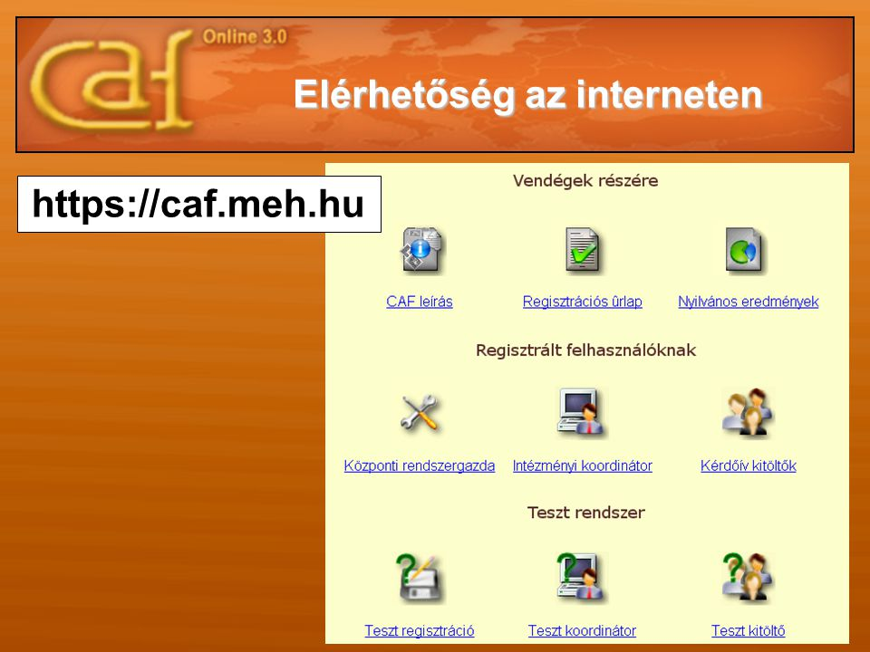 Elérhetőség az interneten