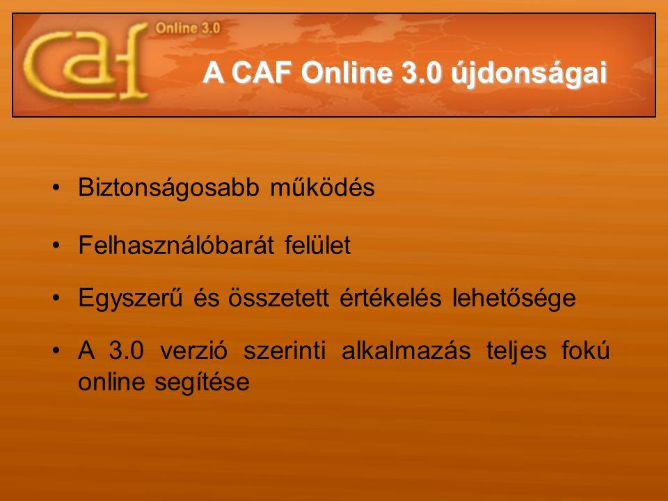 A CAF Online 3.0 újdonságai