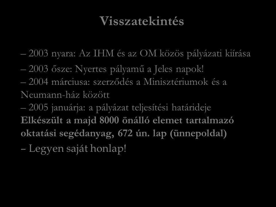 Visszatekintés – 2003 nyara: Az IHM és az OM közös pályázati kiírása