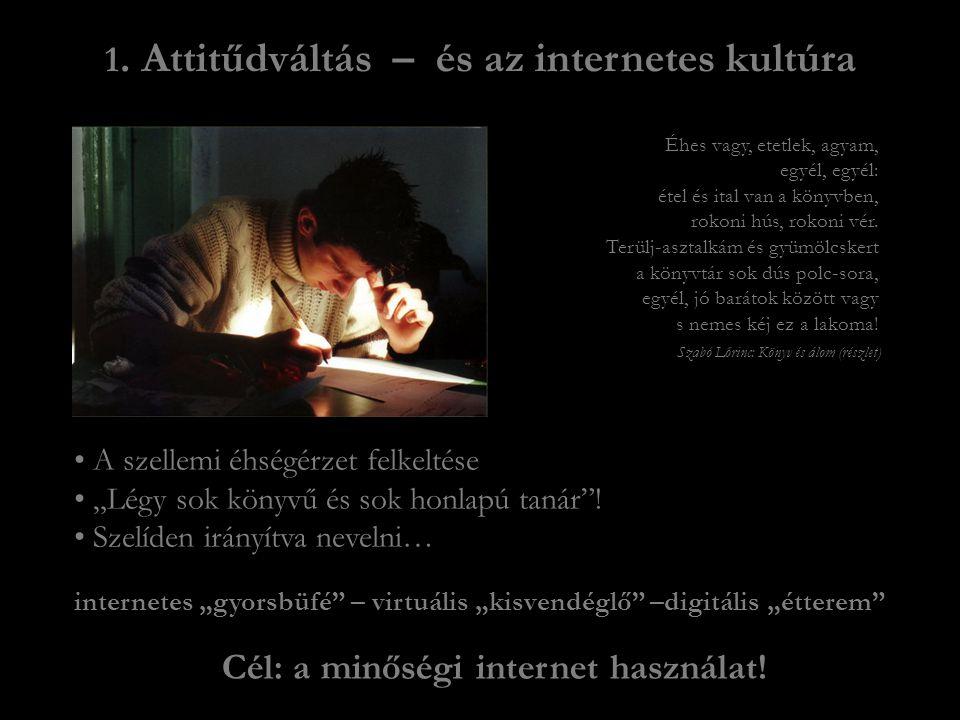 Cél: a minőségi internet használat!