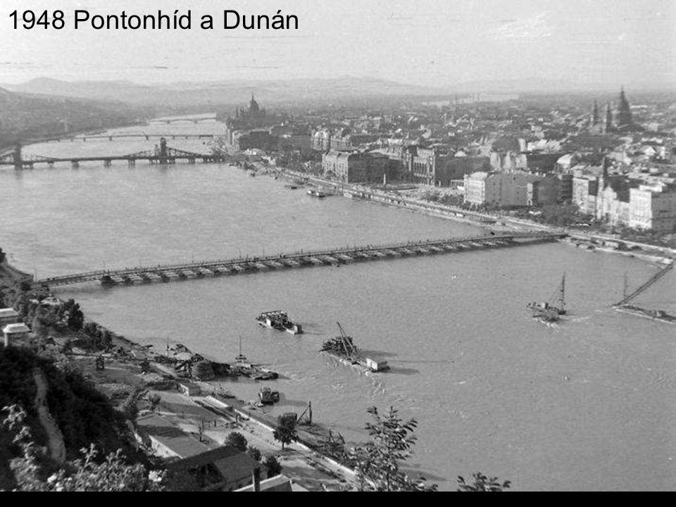 1948 Pontonhíd a Dunán