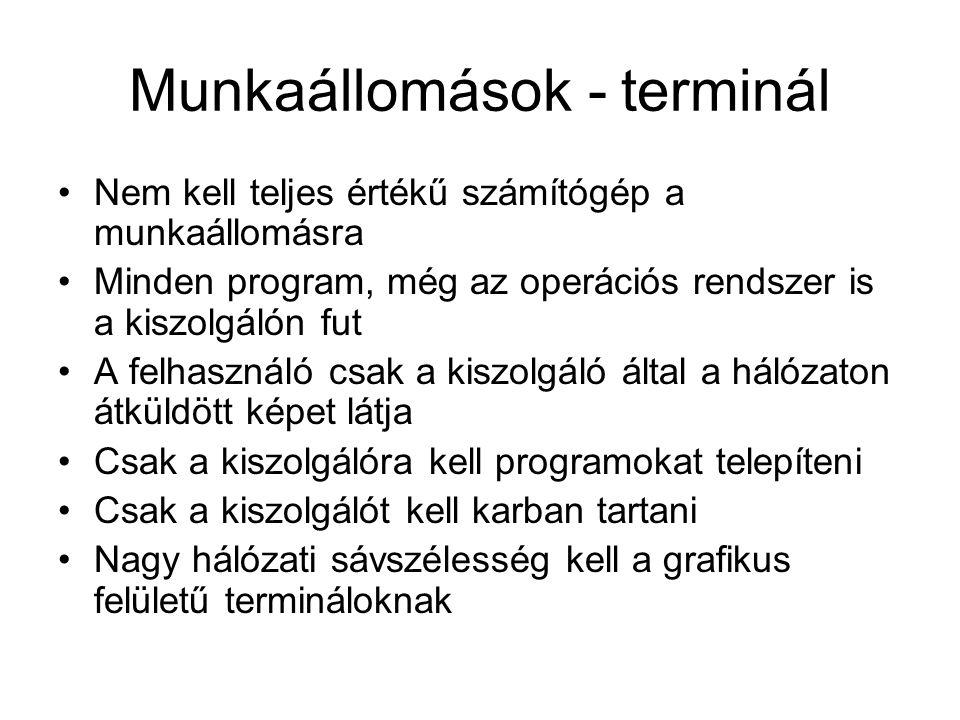 Munkaállomások - terminál