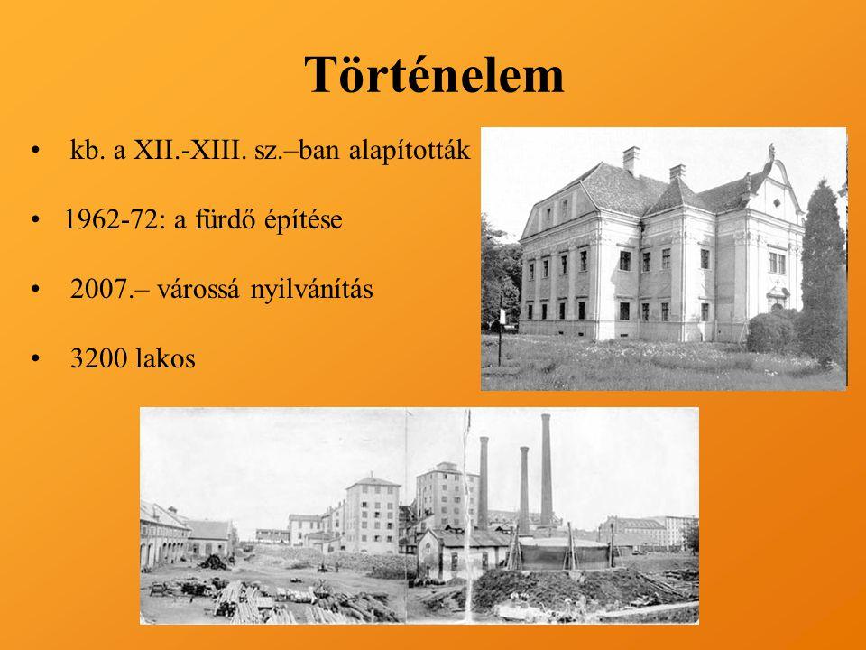 Történelem kb. a XII.-XIII. sz.–ban alapították