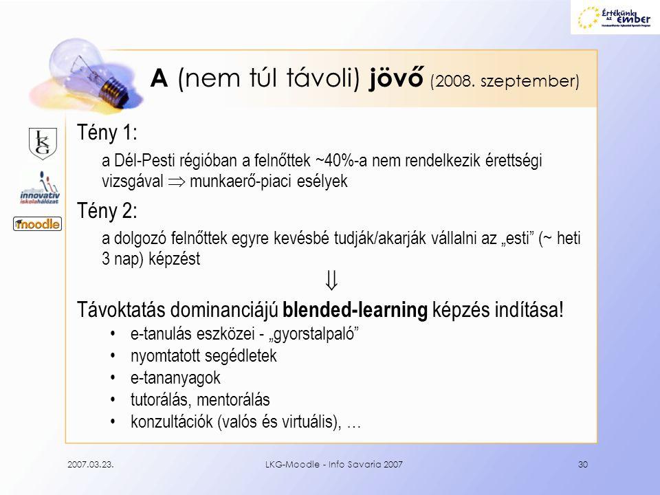 A (nem túl távoli) jövő (2008. szeptember)