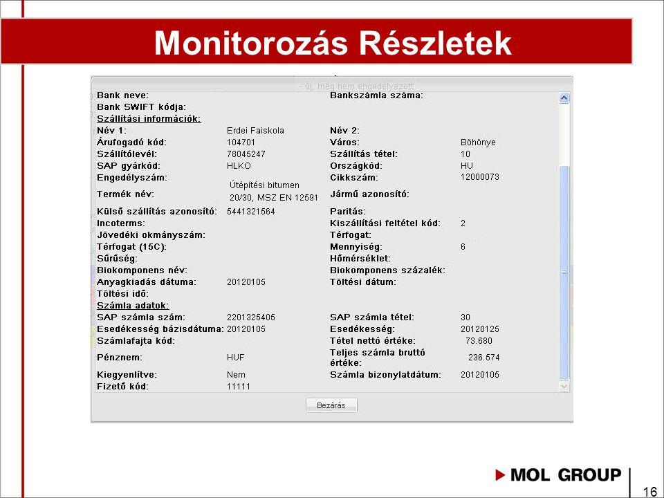 Monitorozás Részletek