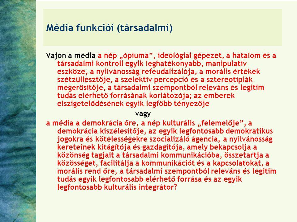 Média funkciói (társadalmi)