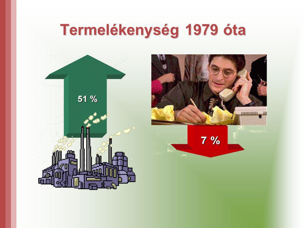 Termelékenység 1979 óta