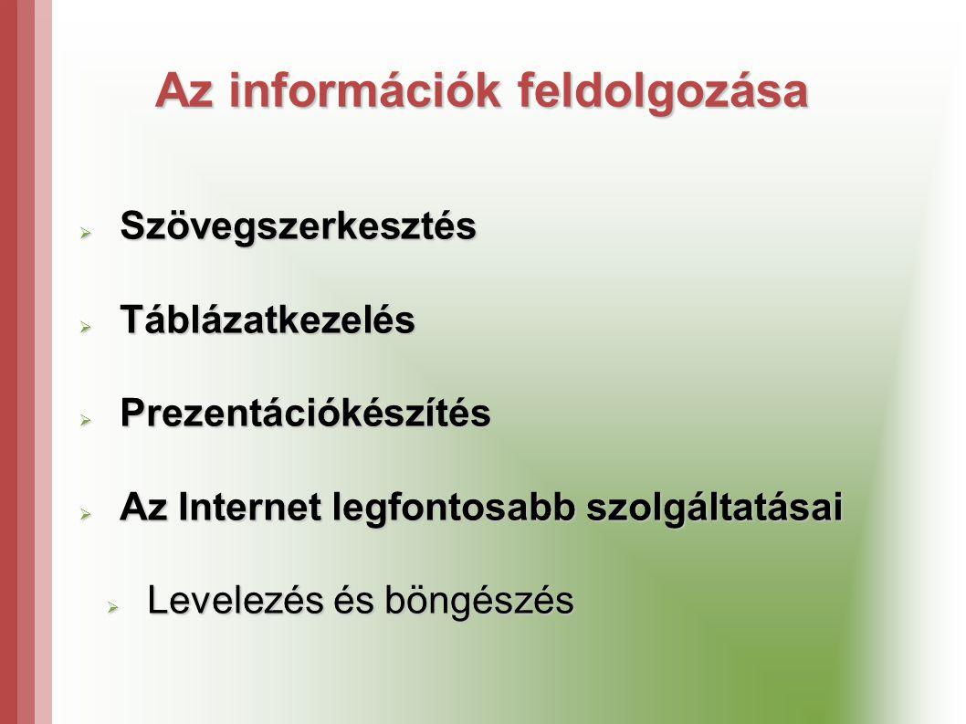 Az információk feldolgozása