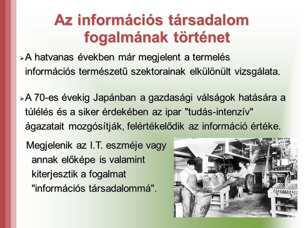 Az információs társadalom fogalmának történet