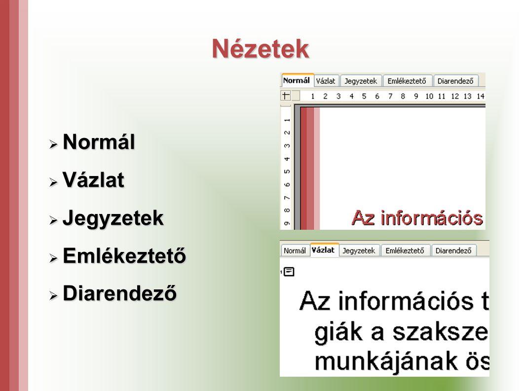 Nézetek Normál Vázlat Jegyzetek Emlékeztető Diarendező