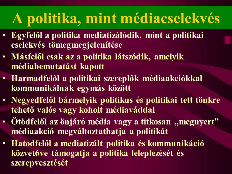 A politika, mint médiacselekvés