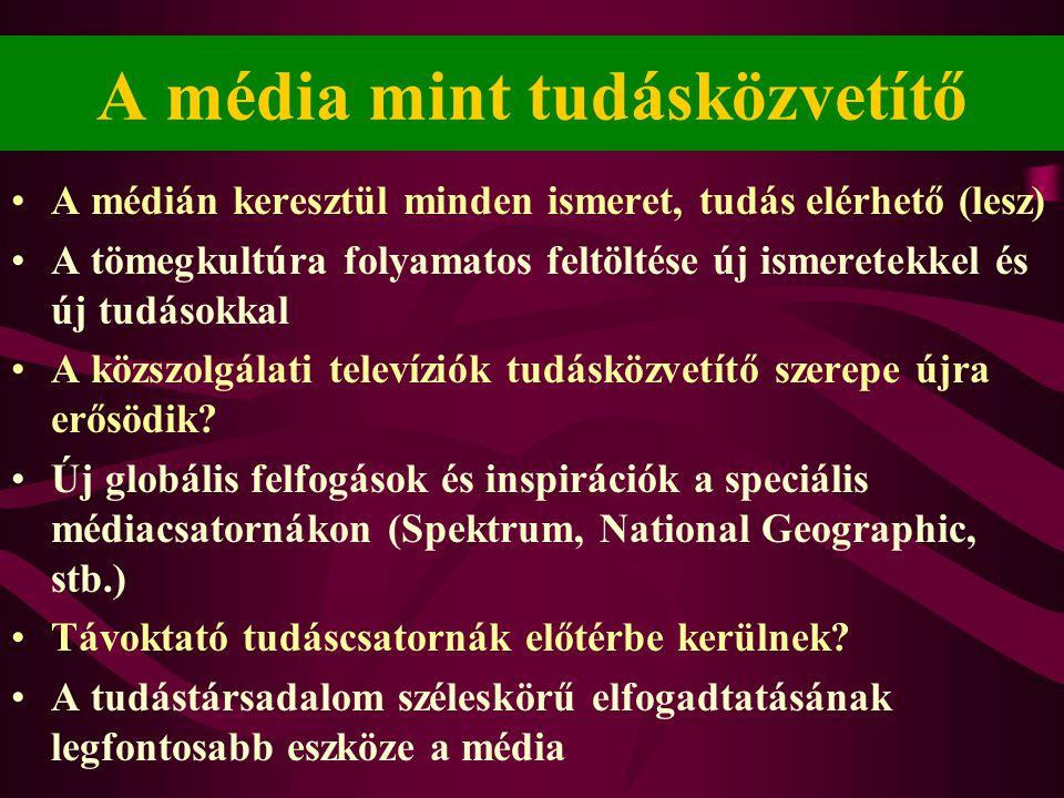 A média mint tudásközvetítő