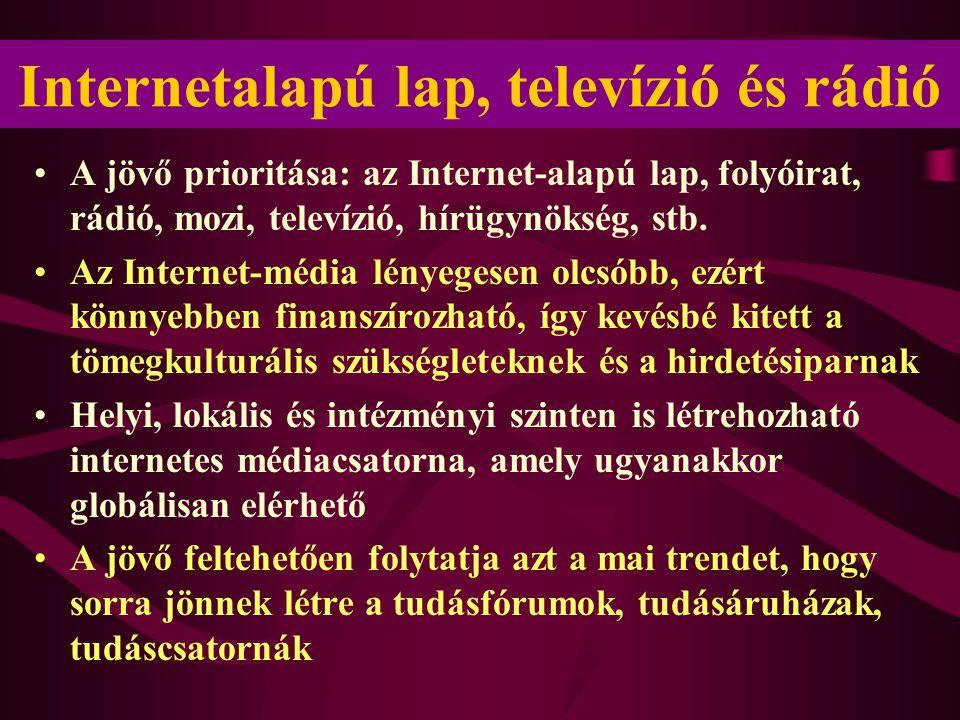 Internetalapú lap, televízió és rádió