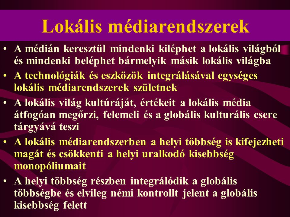Lokális médiarendszerek