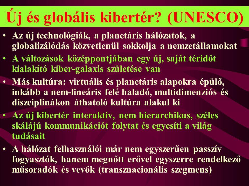 Új és globális kibertér (UNESCO)