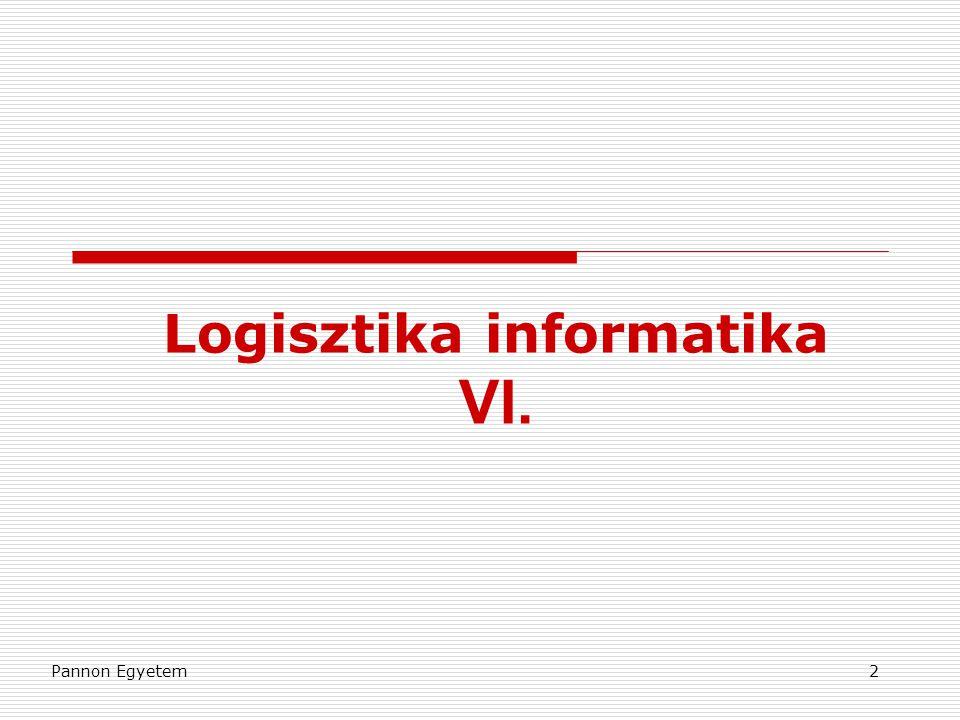 Logisztika informatika VI.