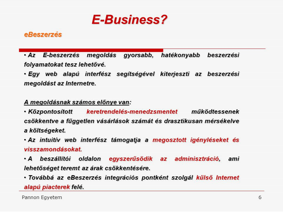 E-Business eBeszerzés