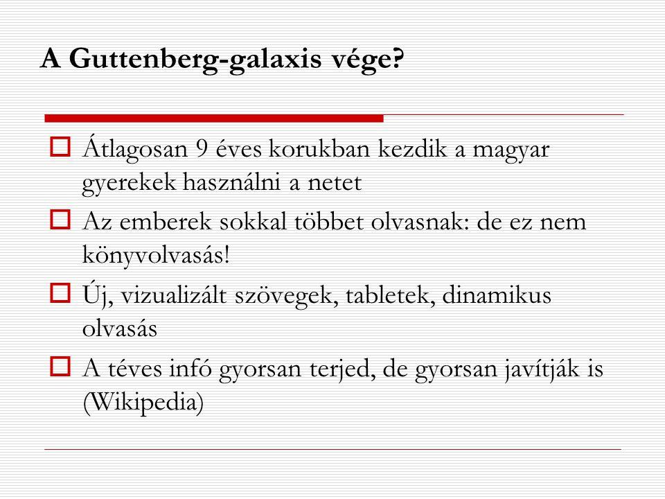 A Guttenberg-galaxis vége