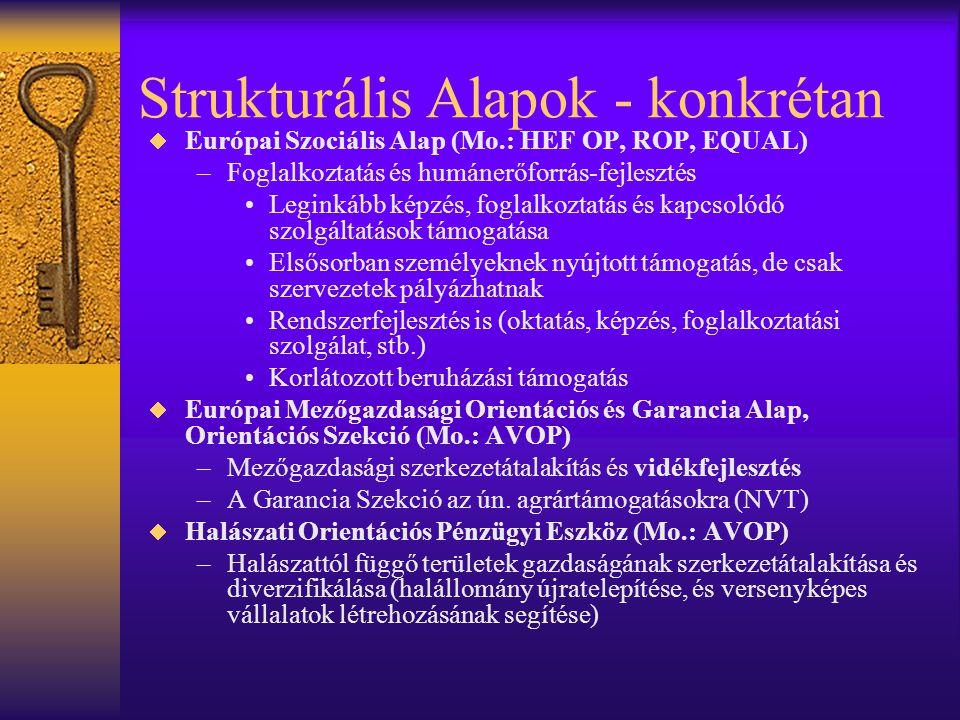 Strukturális Alapok - konkrétan