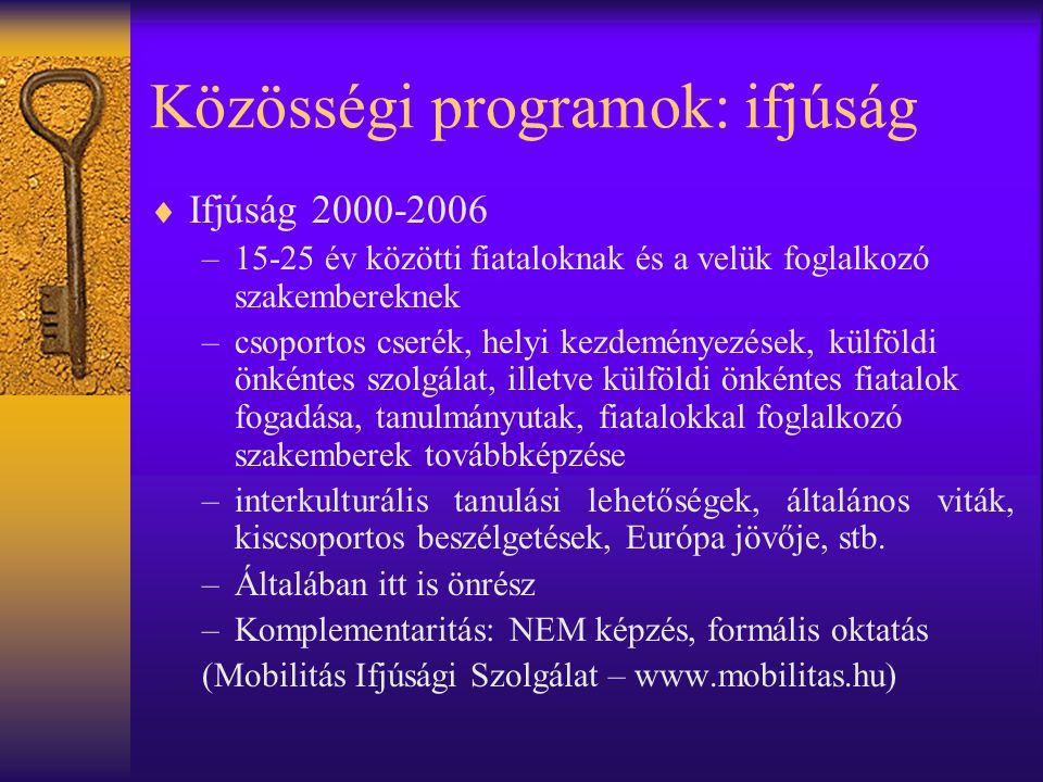 Közösségi programok: ifjúság