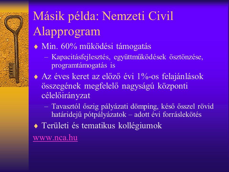 Másik példa: Nemzeti Civil Alapprogram