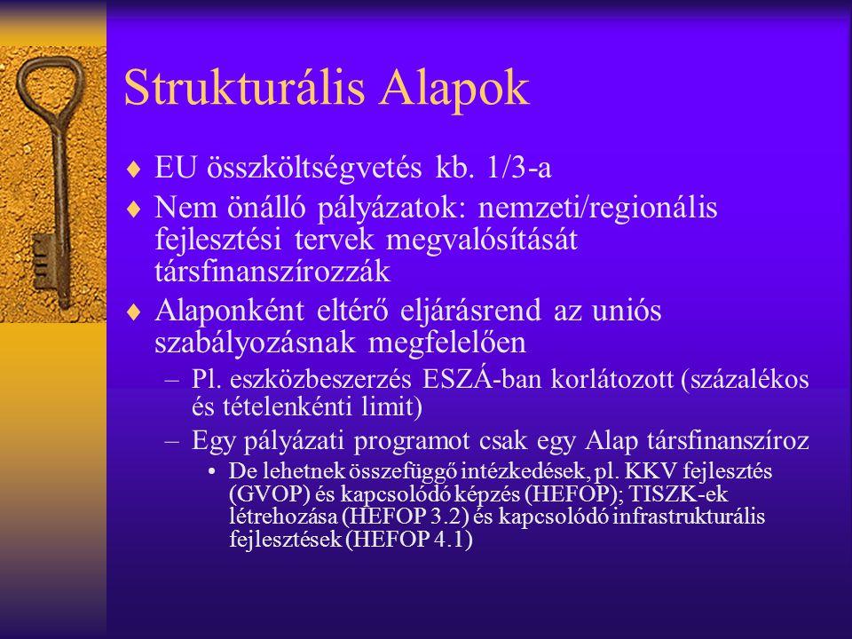 Strukturális Alapok EU összköltségvetés kb. 1/3-a