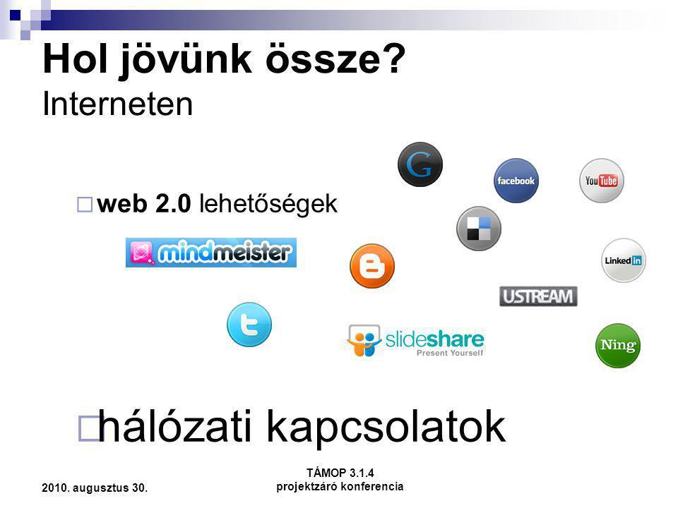 Hol jövünk össze Interneten
