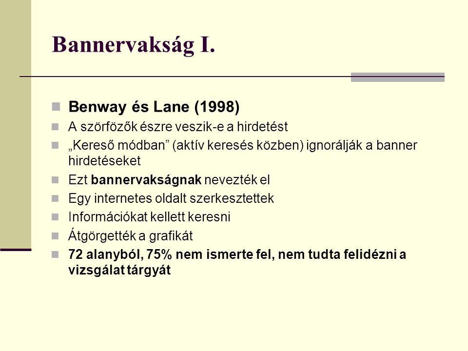 Bannervakság I. Benway és Lane (1998)