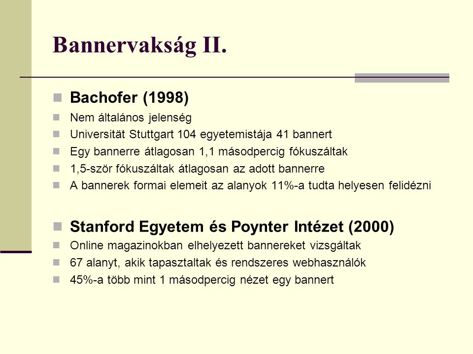 Bannervakság II. Bachofer (1998)