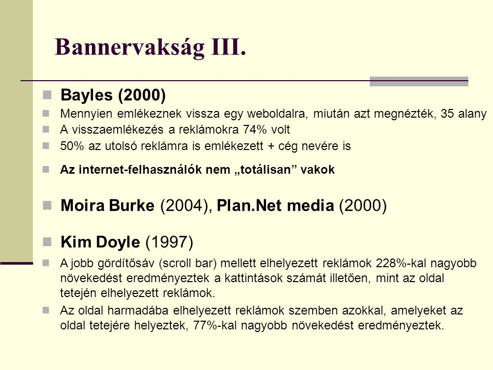 Bannervakság III. Bayles (2000)