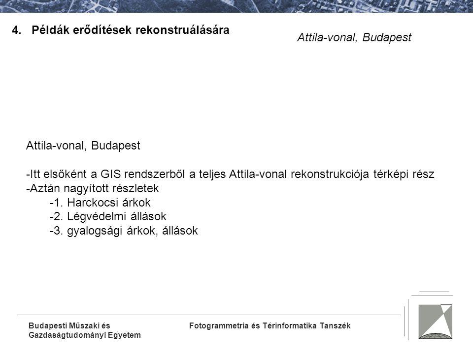 4. Példák erődítések rekonstruálására Attila-vonal, Budapest