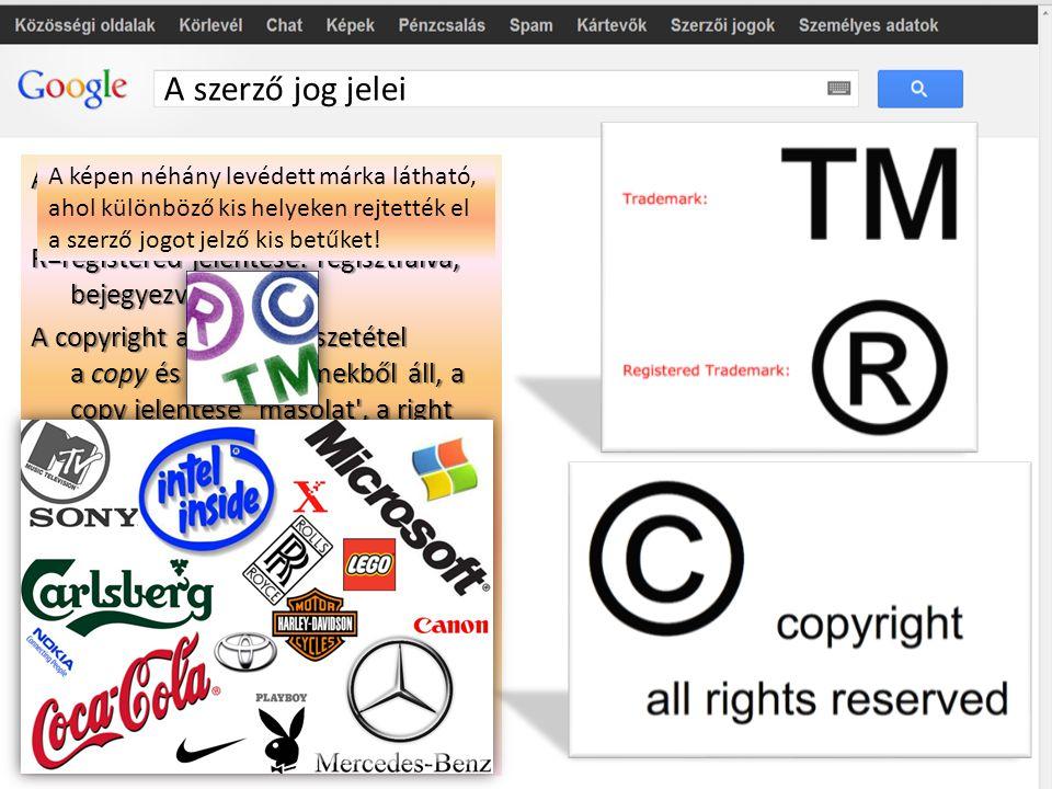 A szerző jog jelei