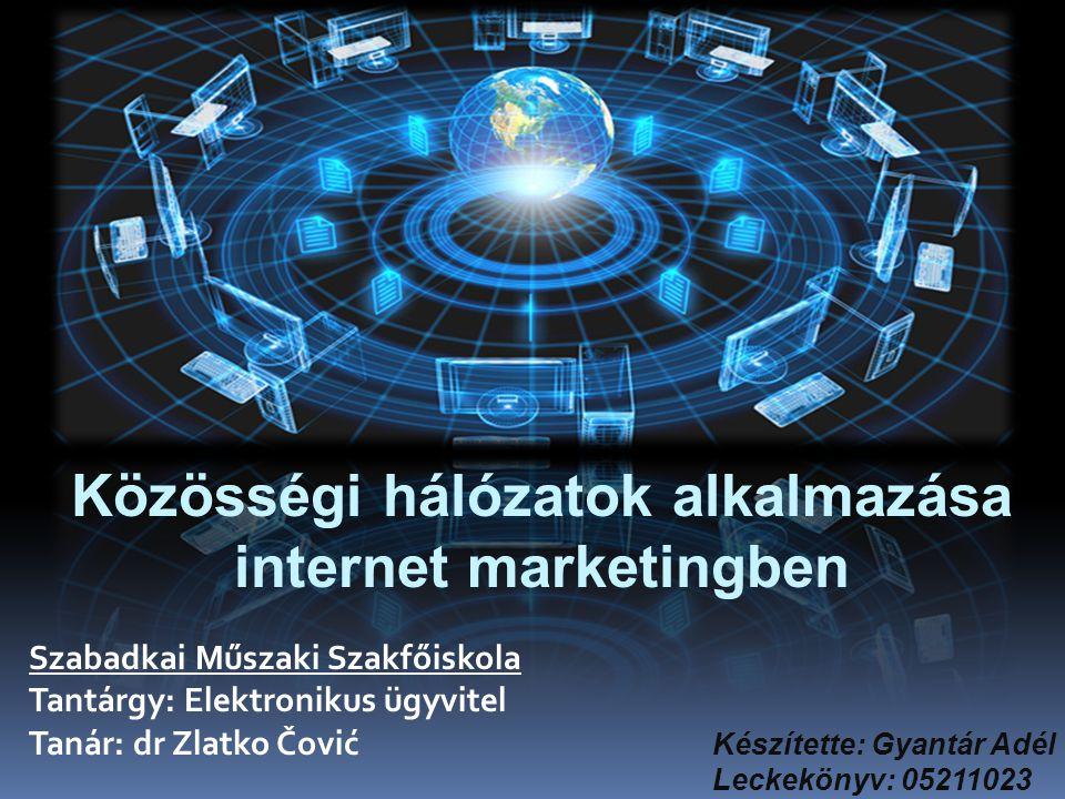 Közösségi hálózatok alkalmazása internet marketingben